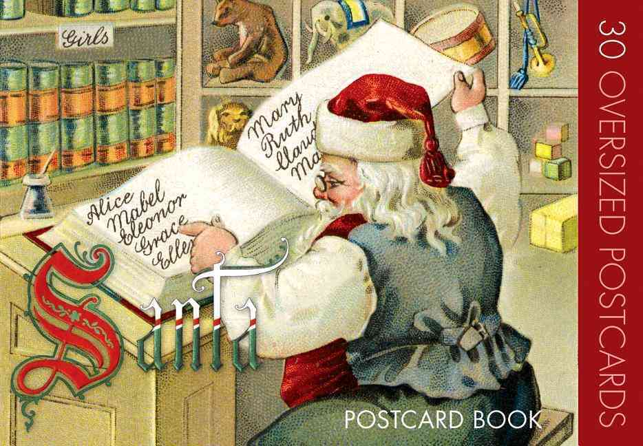 Santa Claus Postcard Book By Laughing Elephant Publishing (COR)